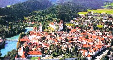 vanuit fussen naar kasteel neuschwanstein