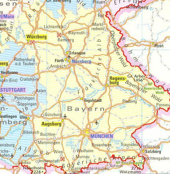 Deelstaat Beieren Drie Geografische Regio S Beieren In Het
